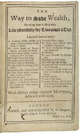 The way to save wealth; shewing how a man may live plentifully for two-pence a day ...