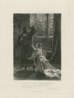 "Othello and Desdemona, Desdemona: ""Upon my knees ..."" Othello, act IV, sc. 2 [graphic] / F. Dicksee, pinxt. ; G. Goldberg, sculpt."