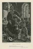 """Othello and Desdemona, Othello: Why, what art thou? ... """"Othello,"""" act IV, scene II [graphic] / drawn by C. Gregory ; engraved by E. Bure."""