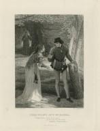 Ferdinand and Miranda, Miranda: If you'll sit down ... Tempest, act III, scene 1 [graphic] / J.D. Watson, Pinxt. ; C. Mottram sculpt.