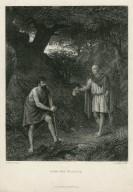 Timon and Flavius [Timon of Athens, act 4, scene 3] [graphic] / H. Wallis Pinxt. ; C. Cousen Sculpt.