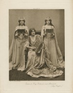 Lily Brayton [as] Queen to King Richard and attendants [in the play by Shakespeare, King Richard II, act III, scene 4] [graphic] / photo, J. & L. Caswall Smith.