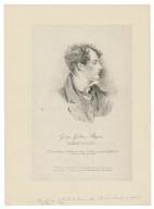 George Gordon Byron, Lord Byron [graphic] / lithographié par Delorieux d'apres le tableau original par G.H. Harlow.