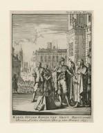 Karel Stuard Koning van Groot Brittanien, Binnen Londen onthalst, Den 13 van Januari 1649 [graphic] / I.L.