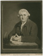 David Garrick [graphic] / painted by Sir Joshua Reynolds ; engrav'd by Thos. Watson.