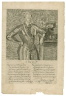 [Portrait of Henri III of France with a sonnet to him printed beneath] [graphic] / [André Thevet].