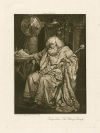 King Lear (Sir Henry Irving) [graphic] / from a drawing by J. Bernard Partridge.