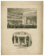 [Two plates:] Interior of the Sans Pareil Theatre, Entrance in the Strand [graphic] / G. Jones, del. : S. Springsguth, junr., sculp.