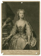 Her Royal Highness Princess Mary, fourth daughter to His Majesty King George ye II, done from the original picture painted for ye Princess of Orange [graphic] / E. Seeman, pinxt. ; I. Simon, fe. et. ex.