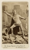 Mr. George Rignold as King Kenry V [in Shakespeare's King Kenry V] [graphic] / Sarony, 680 Broadway, N.Y.