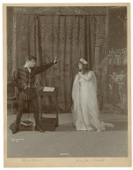 Hamlet [5 photographs of a production starring Edmund Russell as Hamlet, Miss Jane Schenck as Ophelia, Miss Louise Morewin as Gertrude and William Hazeltine as Claudius] [graphic] / Byron, N.Y.