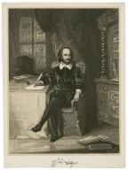 William Shakespeare [in his study] [graphic] / artist, Anst. Seitz, Hamburg.