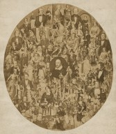 [Photomontage of the Chandos portrait of Shakespeare surrounded by portraits of actors and actresses in Shakespearean roles] [graphic].
