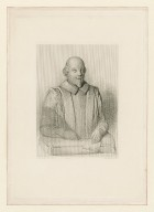 William Shakespeare, from a drawing made expressly for this edition from the bust in the Church at Stratford upon Avon [graphic] / E.W. Robinson, del. ; H. Robinson, sc.