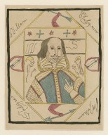 [Facsimile of one of the Ireland forgeries, primitive portrait of Shakespeare] [graphic] / [William Henry Ireland] ; Sam. Ireland fe.