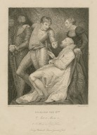 Richard the IInd, act 2, scene 1, A room in Ely House [graphic] / painted by J. Northcote ; engraved by Stowe.