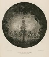 Puck and the fairies: (Midsummer night's dream) [graphic] / R. Dadd, pinxt ; W. M. Lizars, sculpt.
