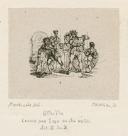 Othello, Cassio and Iago on the watch, act II, sc. 3 [graphic] / Northcote, del. ; Jackson, sc.