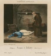 Shakespeare: Romeo et Juliette: acte 3, scène 3 ... [graphic] / Deveria et Boulanger, delt. ; imp. lith de Henry Gaugain.