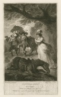 Taming of the shrew, act 4, scene 1, Katherine, Petrucio, and Grumio [graphic] / painted by I.I. Ibbetson ; engraved by A. Smith.