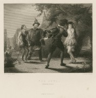 The duel, (Twelfth night) [act III, sc. 4] [graphic] / W.P. Frith, pinxt. ; J. Brain, sculpt.