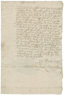 Letter from Grace Cavendish, Tutbury, Staffordshire, to Jane Kniveton
