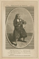 """Mr. Macklin in Shylock: """"Most learned Judge! a sentence, come prepare"""" [from Shakespeare's Merchant of Venice] [graphic] / Ramberg delt. ; Cook sculpt."""