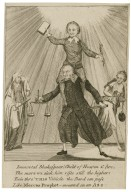 [Charles Macklin and Shakespeare, a caricature] Immortal Shakespear! Child of heaven & fire, the more we sink him rises still the higher: ee'n thro' this vehicle the bard can pass like Mecca's prophet - mounted on an ass [graphic].