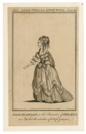 Miss Macklin in the character of Helena [graphic] : [in Shakespeare's] All's well that ends well, act 5, scene last / J Roberts, ad vivam del. ; Grignion, sc.