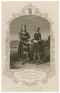 Mr. Macready as King John and Mr. Cooper as Hubert [in Shakespeare's King John] [graphic] / engraved by Hollis from the original drawing by Reid in the possession of the publishers.