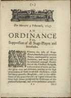 [Proceedings. 1648-02-11] An ordinance of the Lords and Commons assembled in Parliament ...
