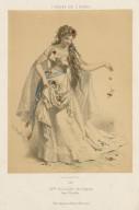 Melle. Nilsson, role d'Ophélie dans Hamlet [opera by Ambroise Thomas] [graphic] / [A. Morlon].