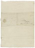 Letter from George Talbot, Earl of Shrewsbury, Sheffield, to Elizabeth Hardwick Talbot, Countess of Shrewsbury