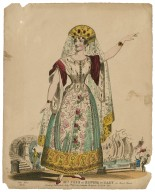 Mrs. Pope as Elwina of Raby in [Henry M. Milner's] Chevy Chase [graphic].