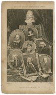 Bingley's Eminent British characters [including] Milton, Shakspere [sic], Sir Francis Bacon, Johnson, Wicliffe [sic], A. Pope, Sir I. Newton, Jedh. Buxton [graphic] / H. Corbould delt. ; H. Adlard sc.