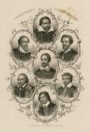 Shakespeare's contemporaries: Ben Johnson, Beaumont, Fletcher, Spenser Massinger, Drayton, Shirley [graphic].