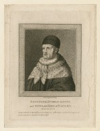 Reignier, Duke of Anjou, and titular King of Naples, Henry VI, part I, from a print in Montfaucon's AntiquitÝys of France, said to be engraved from a picture painted by himself [graphic] / S. Harding del. et sculp.