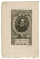 Wm. Shakespeare at the age of 40 [graphic] / engraved by J. Hall 1772.