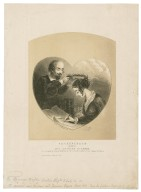 Shakespeare crowning Mrs. Cowden Clarke [graphic] / the portrait is from a drawing by (Mrs. Clarke's sister) Miss Emma Novello ; Bobbett & Edmonds, sc. N.Y.