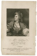 Mrs. Siddons as the Tragic Muse [graphic] / Sir Joshua Reynolds, pinxt. ; engraven by Anthony Cardon.