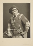 [Two photographs of Rowland Buckstone in costume as the gravedigger in Hamlet and as Henry IV] [graphic] / Johnston & Hoffman.