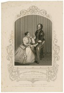 Mrs. Vining and Mr. Edward Stirling in his drama of The rag picker of Paris: Father Jean, Listen to me, for sixty years ... [graphic] / engraved by Hollis ; from a daguerreotype by Mr. Hogg.