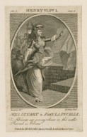 Miss Stuart in Joan la Pucelle [in Shakespeare's] Henry VI, pt. I, act I, sc. 6, Advance our waving colours ... [graphic] / Ramberg, delt. ; Newnham, sculpt.