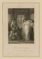 Antony and Cleopatra, Iras: Go to him, madam, speak to him, act III, sc. IX [i.e., xi] [graphic] / H. Corbould ; C. Rolls.