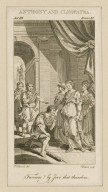 Anthony and Cleopatra, act III, scene XI [i.e. 13]: Favours! by Jove that thunders [graphic] / E. Edwards, del. ; C. Grignion sculp.