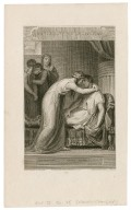 Anthony and Cleopatra: attendant, A heavy night! act IV, scene IX [i.e. 15] [graphic] / painted by Howard ; engraved by G. Noble.