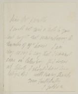 Autograph letters signed from John Gibson, [Rome?], to [Frances Anne] Kemble [manuscript], ca. 1853?