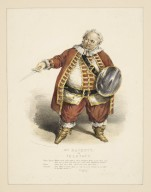 Mr. Hackett as Falstaff... King Henry 4th, act 2, sc.4 [graphic] / drawn by G. E. Madden ; lithographed by G. E. Madden.