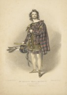 Mr. Charles Kean as Macbeth [in Shakespeare's Macbeth] [graphic] / from the portrait by Alfd. Edwd. Chalon ; drawn on stone by R.J. Lane.
