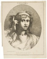 Cassandra, Troilus and Cressida, act 2, sc. 4 [i.e. act 2, sc.2]: Cry Trojans cry, practice your eyes with tears [graphic] / [John Hamilton Mortimer, artist].